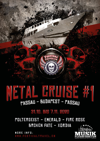 All Inkl Party Ferien River Metal Cruise #1 31.10.2020-07.11.2020