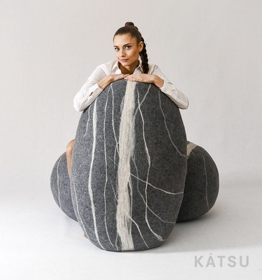 "Giant stone poufs. Model ""Bongo"""
