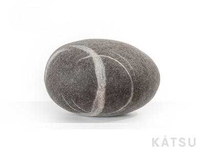 "Felt stone pillows and poufs. Model ""Halo"""