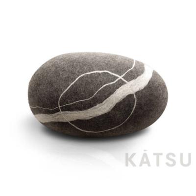 "Felt stone pillows and poufs. Model ""Sea boulder"""