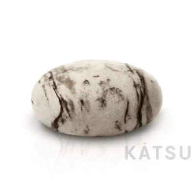 "Felt stone pillows and poufs. Model ""Marble"""