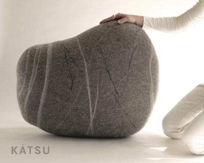 """Felt stone pillows and poufs. Model """"Scandinavian stone"""""""