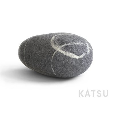 "Felt stone pillows and poufs. Model ""Celtic stone"""