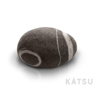 "Felt stone pillows and poufs. Model ""Stone baby"""