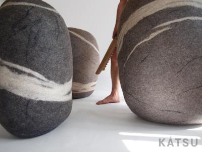 "Giant stone poufs. Model ""Giant rock"""
