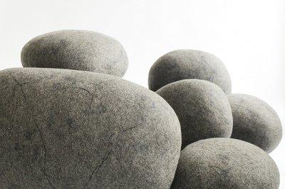 "Felt stone pillows and poufs. Model ""NORD"""