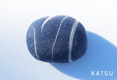 """Felt stone pillows and poufs. Model """"Blue melange"""""""