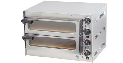 ELECTRIC SNACK PIZZA OVEN - w/ stone / Double
