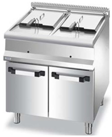 Gas fryer on cabine
