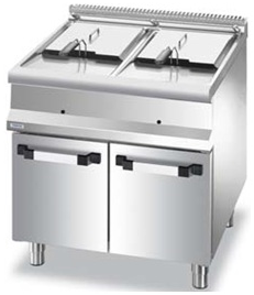 Electric fryer on under cabine