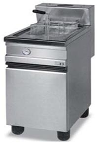 Gas fryer on cabinet / monoblock