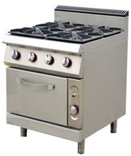 Gas cooker.