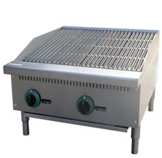 Gas lava stone grill.