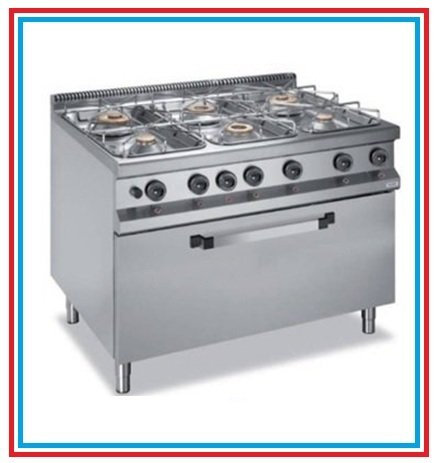 Gas cooker on maxi oven