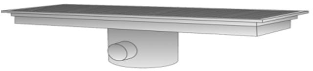 Side Outlet Center Drain