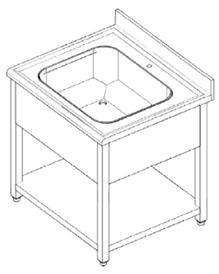 Single bowl sink unit.