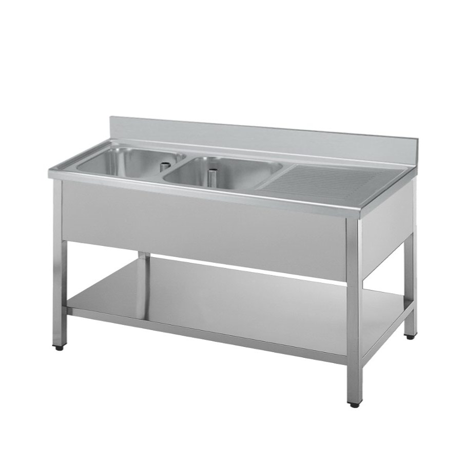Double bowl sink unit.