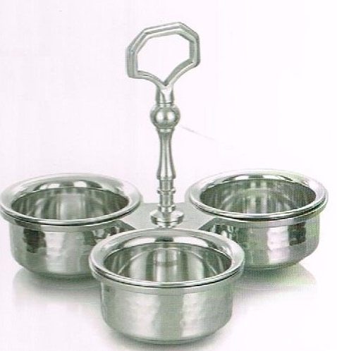 STAINLESS STEEL PICKLE DISH  Height 17.50 cm dia 20 cm