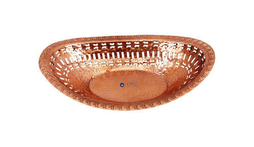 COPPER BREAD BASKET OVAL