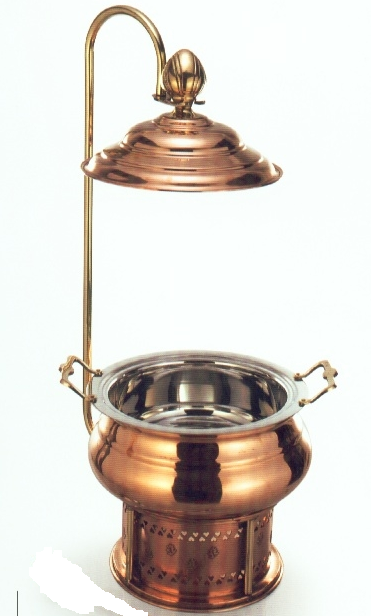 COPPER BRASS ROUND CHAFING DISH REGAL  6ltr