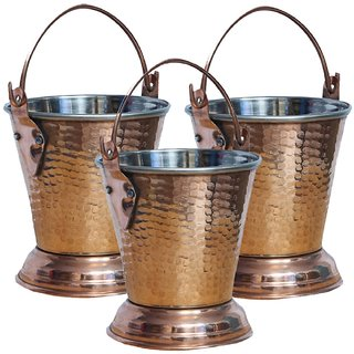 COPPER STAINLESS STEEL BALTI