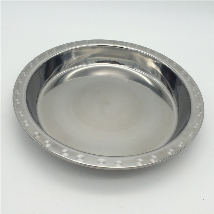 STAINLESS STEEL ROUND SALVER Height 3 cm Dia 40 cm