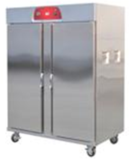 Double Door Food warmer cart.