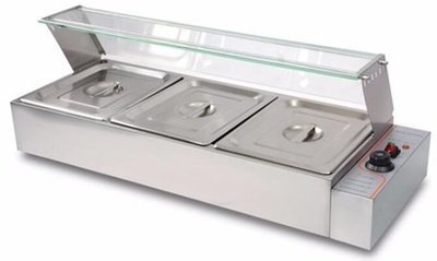BAIN MARIE WITH GLASS COVER