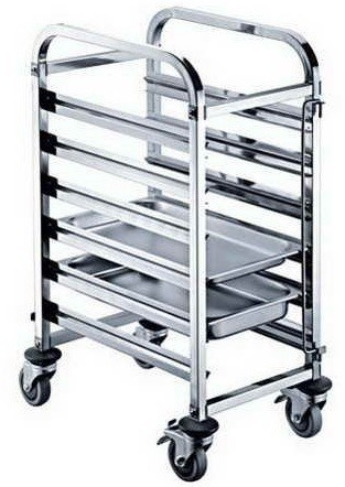 STAINLESS STEEL GN TROLLEY 6 GN