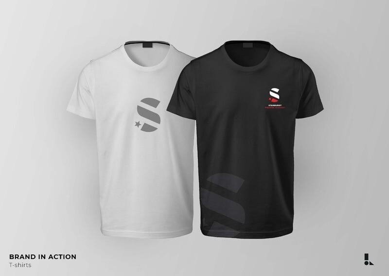 Starburst T Shirt with Logo