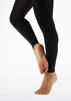 Footless Dance Tights - Black