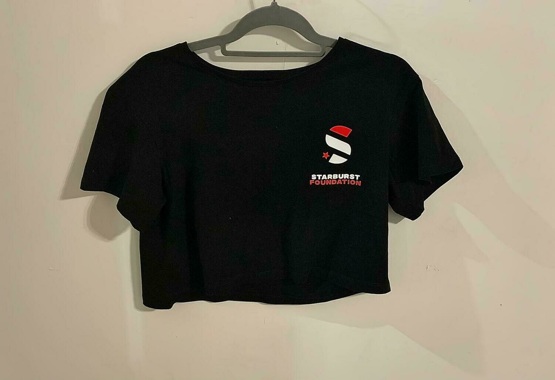Starburst Cropped T-Shirt with Logo
