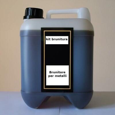 BRUNITURA BRUNITORE  FREDDO PROFESSIONALE  X FERRO bleck lamp 3 trivalente