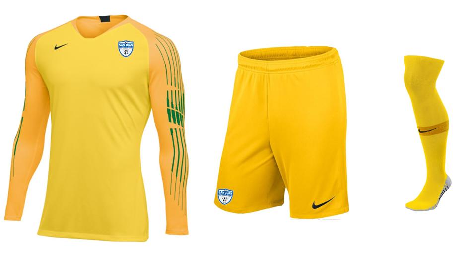 SAN JUAN 2020 Yellow Keeper Uniform Set