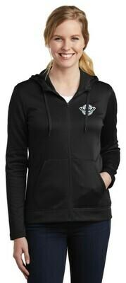 Blackhawks Women's Nike Therma-FIT Full Zip Fleece Hoodie