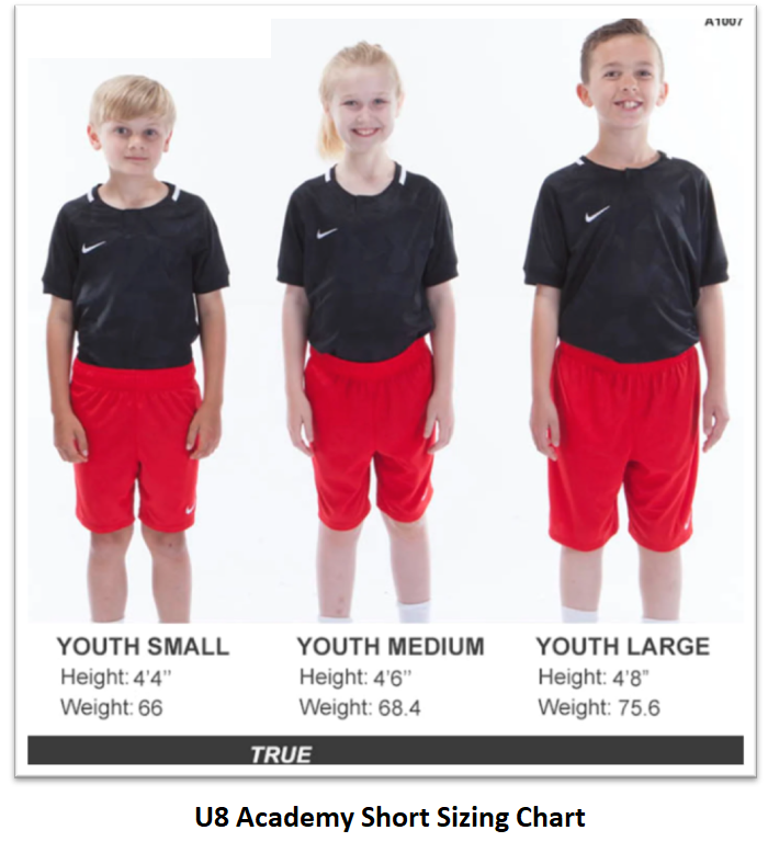 Helpful Sizing Information: Shorts (YOUTH)