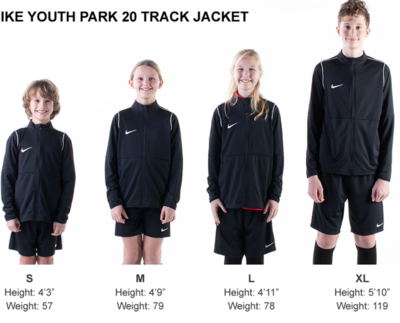 Helpful Sizing Information: Jacket (YOUTH, MENS AND WOMENS)