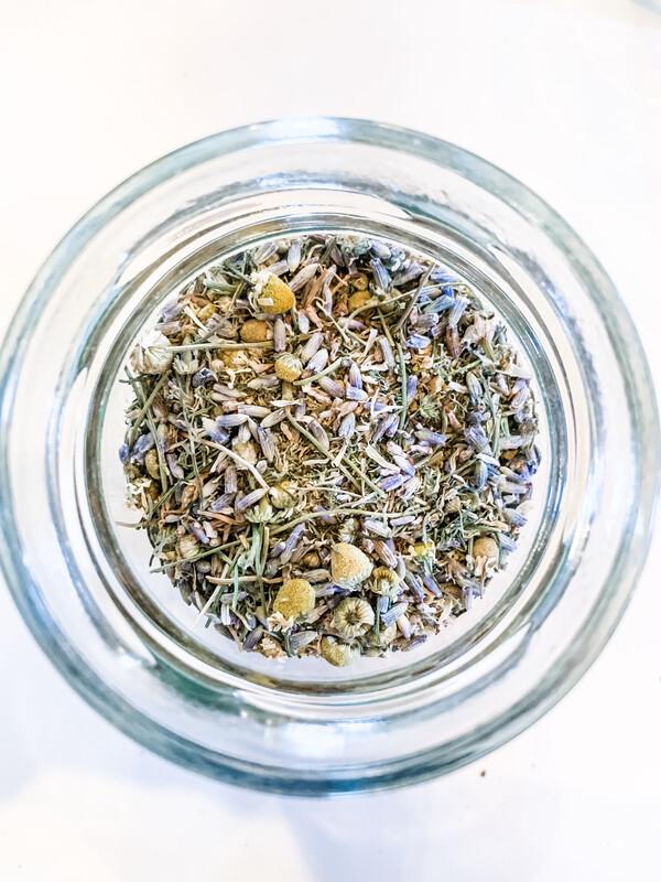 """Lavender + Chamomile"" Homegrown Herbal Tea Blend"