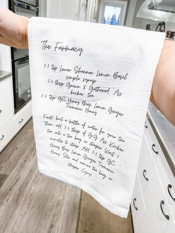 'Farmacy' Tea Towel - Grown + Gathered Home Collection