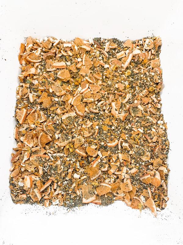 """""""Bottled Sunshine """" Homegrown Herbal Tea Blend SUMMER LIMITED EDITION TEA"""