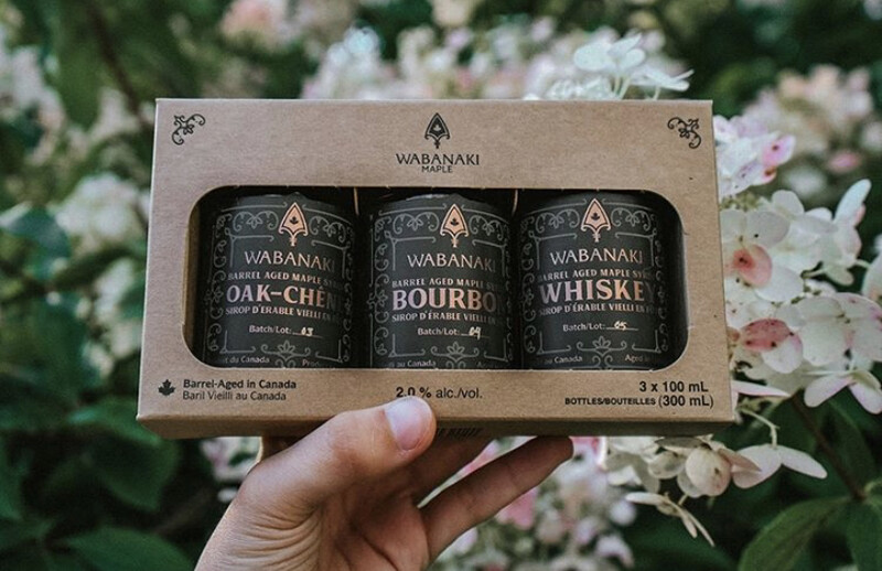 Wabanaki Barrel Aged Maple Syrup Trio Mini Packs  (3x100ml)