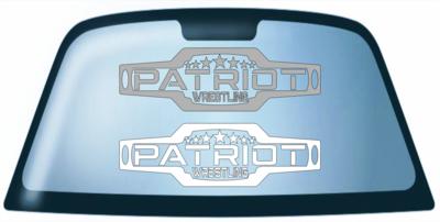 Patriot Car Window Decal