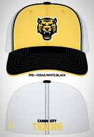 Vegas Gold Fitted Tiger Hat