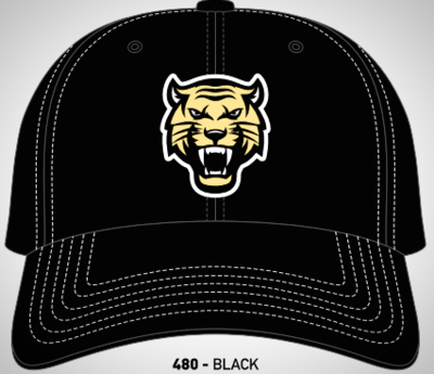 Black Fitted Tiger Hat