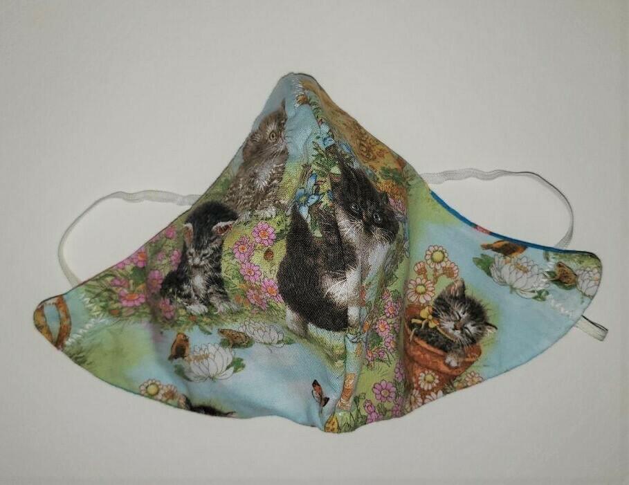 Kittens in the Garden Mask #3