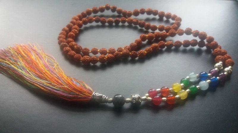 Rudraksha 7 Chakra Mala necklace