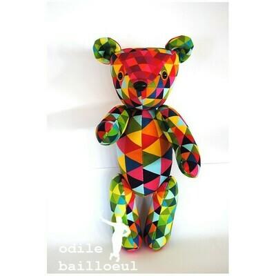 Velvet Teddy Kit - Harlequin