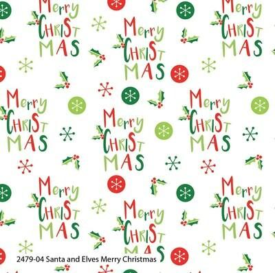 Santa & Elves - Merry Christmas