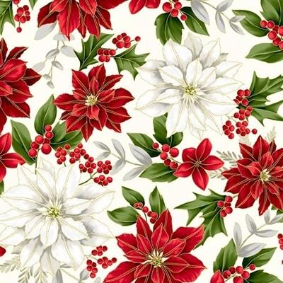 Poised Poinsettia - White Gold