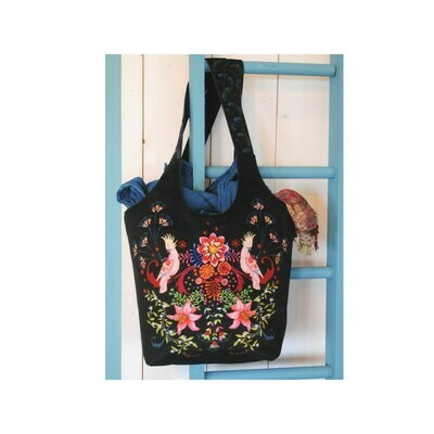 Velvet Trapeze Bag Kit - Black